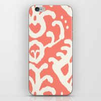 Ikat In Coral  iPhone & iPod Skin