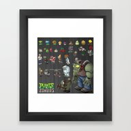 Framed Art Print featuring Plants Vs Zombie  , Plan… by Ira Gora