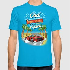 Racing Adventure Mens Fitted Tee Teal SMALL