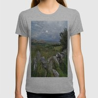 Slowly The Landscape Cha… Womens Fitted Tee Athletic Grey SMALL