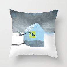 Arctic birds of a feather Throw Pillow