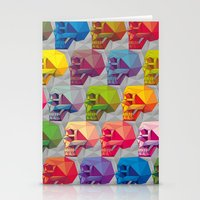 Skull In Color Stationery Cards