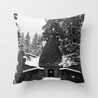 Snow Building In Snow Throw Pillow