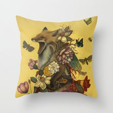 Fox Confessor Throw Pillow