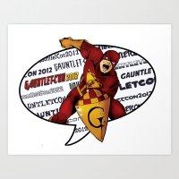 Gauntlet-Con Promotional… Art Print