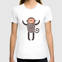 monkey T-shirts featuring Monkey by Anna Alekseeva kostolom3000