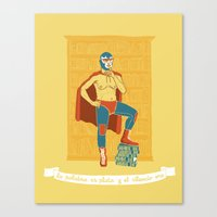 Lucha Library Canvas Print