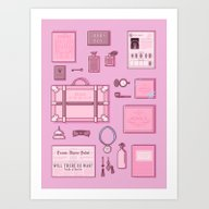 Grand Budapest Items Art Print