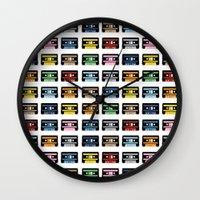 80 Rainbow Tapes Wall Clock
