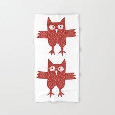 Red Owl Hand & Bath Towel