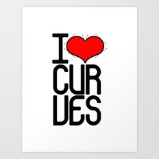 I heart curves Art Print