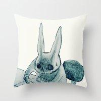 another bunny Throw Pillow