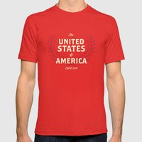 The United States Of Ame… Mens Fitted Tee Red SMALL