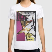Cat Flips Through Magazi… Womens Fitted Tee Ash Grey SMALL