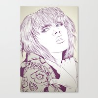 Thinking about something Canvas Print