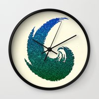 - summer wave - Wall Clock