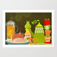 Autumn Food Art Print