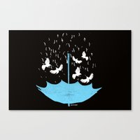 Umbrella Birds Canvas Print