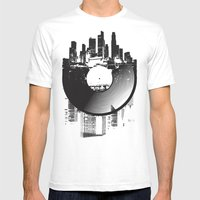 Urban Vinyl Mens Fitted Tee White SMALL