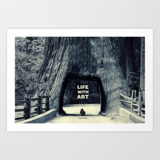 Life WITH art & Life without Art Print