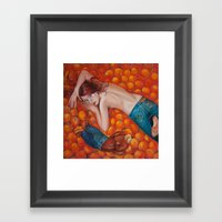 Lines Of Me. Scarfy & Or… Framed Art Print