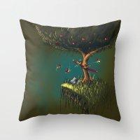 Apple Ninja Throw Pillow