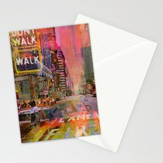 traffic jam pink Stationery Cards