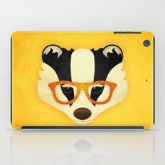 Hipster Badger: Gold iPad Case