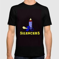 Silencers Mens Fitted Tee Black SMALL
