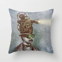 The Projectionist (colou… Throw Pillow