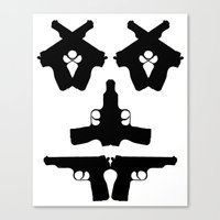 Pistol Face Canvas Print