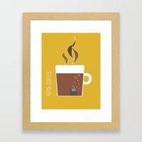 70s Coffee Framed Art Print