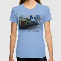 Urban Brutality  Womens Fitted Tee Athletic Blue SMALL