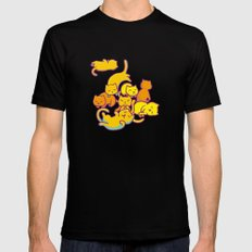 cats ! Mens Fitted Tee Black SMALL