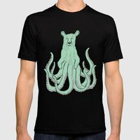 Octobear Mens Fitted Tee Black SMALL