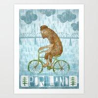 Dirty Wet Bigfoot Hipste… Art Print