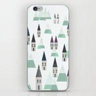 Village On Winter iPhone & iPod Skin