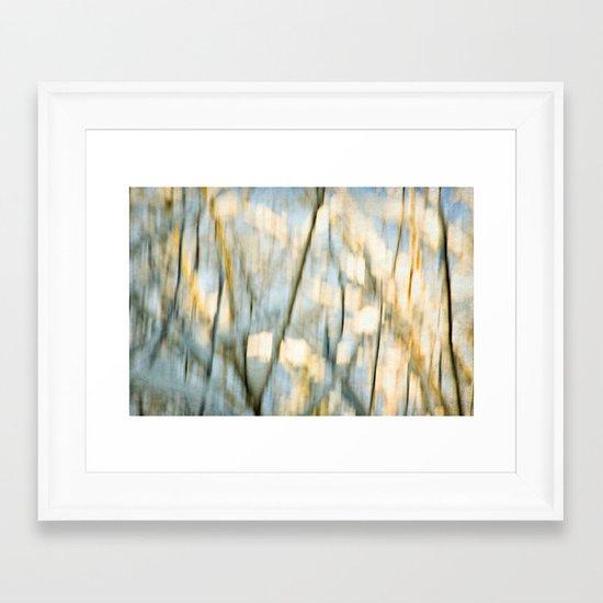 winter tree abstraction Framed Art Print