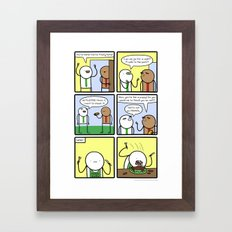 Antics #290 - animal instinct Framed Art Print