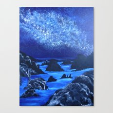 Seas and stars Canvas Print