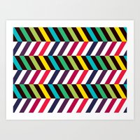 Colorful Zigzag Art Print