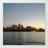 Sydney City Pixels No.1 Canvas Print
