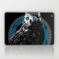 Midnight Owl - Teal Laptop & iPad Skin