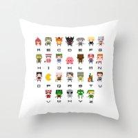 Video Games Pixel Alphab… Throw Pillow