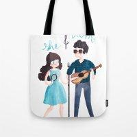 She & Him Tote Bag