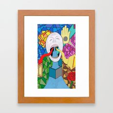 Spitting Out Framed Art Print