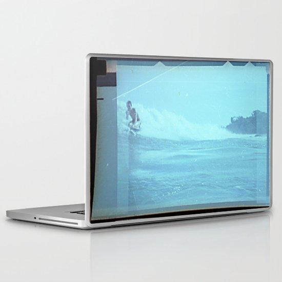 Paradise Cove 1974 Light Blue Laptop & iPad Skin