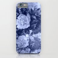iPhone & iPod Case featuring Old Roses In Light Blue by Clemm