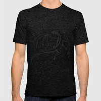 A simple flying dragon Mens Fitted Tee Tri-Black SMALL