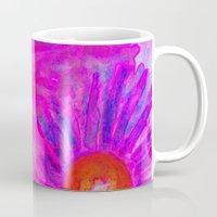 Bright Pink Sketch Flowe… Mug